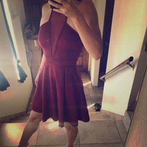 Small Charlotte Russe Burgundy Dress 🔥🔥